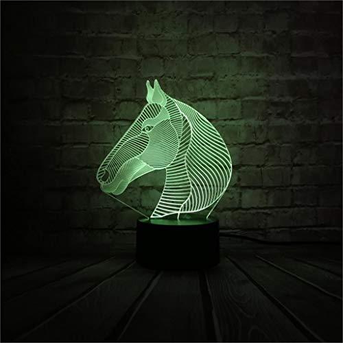 Veilleuse 3D à motif animal de compagnie - 7 couleurs - Décoration de sortie de chambre à coucher - Cadeau de Noël des enfants