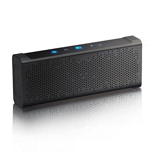 Inateck Mercury Box Bluetooth 4.0 Portabler Lautsprecher wasserresistent, 2x 5W 15 Stunden Akkulaufzeit, integriertes Mikrofon