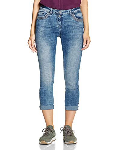 CECIL Damen 372406 Charlize Slim Fit Straight Jeans, Blau (authentic used wash 10317), W33/L28 (Herstellergröße:33)