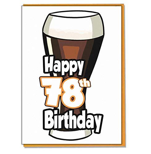 Ale - bier - 78e verjaardagskaart - mannen, zoon, kleinzoon, vader, broer, man, vriend, vriend