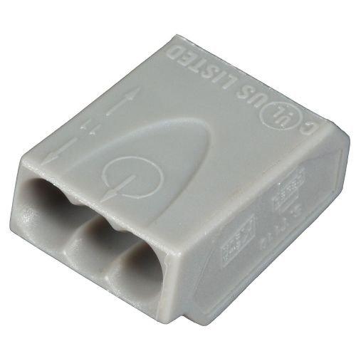 ViD® 100 Stück Verbindungsklemmen/Steckklemmen grau 3 x 2,5 mm²