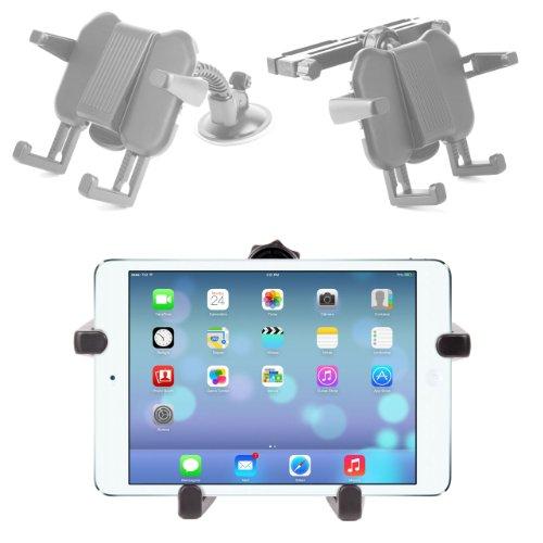 Support voiture 2 en 1 d'appuie-tête et pare-brise - ajustable - Compatible avec Apple iPad Air tablette 9,7\