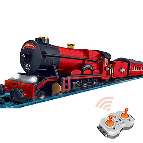 YOU339 Technik Lokomotive Zug baustein Modell bausatz, MOC 2086 klemmbausteine Fernbedienung Zugmodell, Zug mit Musik Leichter Schornstein Für Lego