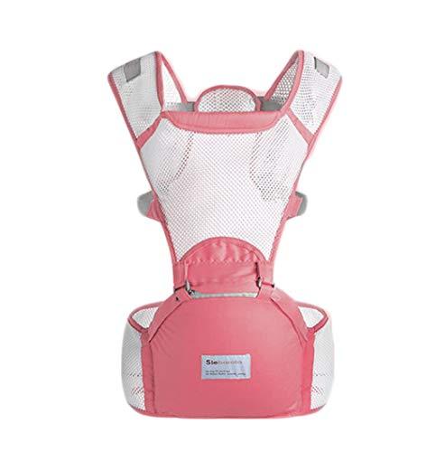 SuRose Baby Carrier 4-In-1 Baby Wrap Carrier Leichter Taillenhocker Adapt Cool Air Mesh Atmungsaktive Ergonomische Babytrage, Neugeborene Zum Kind,Pink