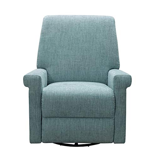 Baby Surfer - Jayden Frederica Teal Nursery Recliner with 360 Rotating Swivel Glider for Nursery and Living Room (1)