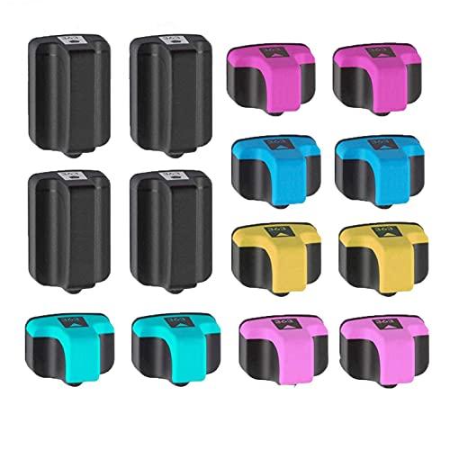 INKMATE HP 363 - Juego de 14 cartuchos de tinta remanufacturados para HP Photosmart 3110, 3210, 3300, 3310, 8230, 8250, C5140, C7280, C8180, C5150, C5180, C8183 y D61614 0 D61 63 D6168 P3210.