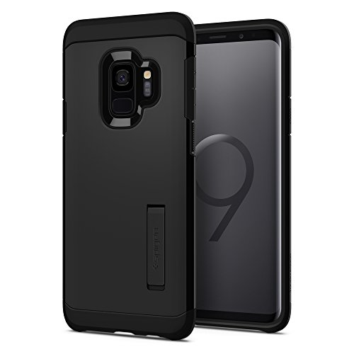 Spigen® [Tough Armor Funda Galaxy S9 con Soporte Reforzado y protección Extrema de Tecnología Air Cushion para Samsung Galaxy S9 (2018) - Negro