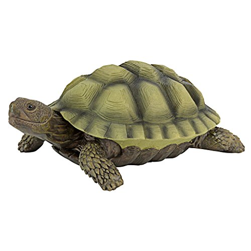 Design Toscano QM1887611 Gilbert the Box Turtle Garden Decor Animal Statue, 9 Inch, Full Color