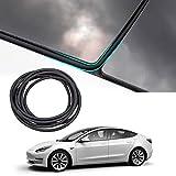 TAPTES Tesla Model 3 Roof Seal Strip [2021 2020 Version] Wind Noise Reduction Kit Wind Quiet Seal Kit 4.0 Upgraded (Black)