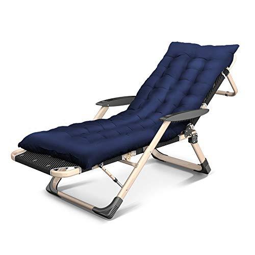 YNN Chaise de Jardin Pliante 178cm INCL. Coussin et Appui-tête Amovibles Bain de Soleil pour Balcon Cadre en Acier pour Bronzer (Couleur : C)