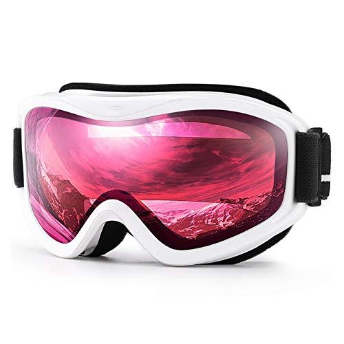 Exterior Gafas de esquí, Winter Snow Deportes con Anti-Niebla Doble Lente Mascarilla de esquí Gafas de esquí Hombres Mujeres Snow Gafas para Hombres, Mujeres y jóvenes (Color : C9 Vermillion Black)