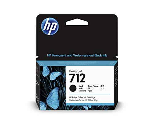 HP 712 - Cartucho de Tinta Original de 38 ml (3ED70A) para impresoras DesignJet T650, T630, T230, T210 y Studio Plotter