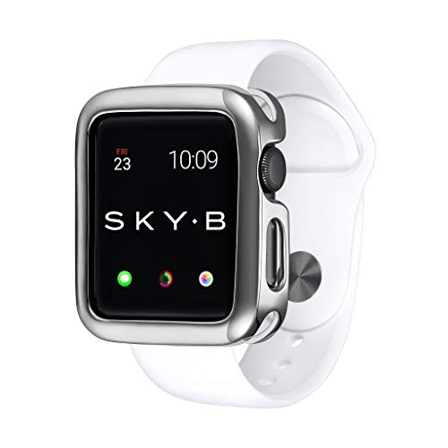 SKYB Minimalist Silver Protective Jewelry Case for Apple Watch Series 1, 2, 3, 4, 5 Devices - 38mm