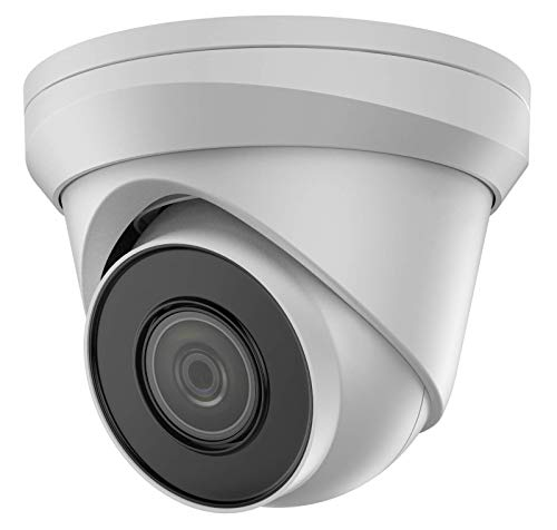 VIVID HD Cámara de torreta IP 4K UHD POE CCTV DOME de 8 MP blanco (CAM-IP-TURRET-8MP-W-V2) 30 M IR 2,8 mm de ancho ángulo