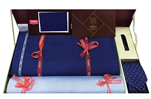 Raymond Men's Unstitched Suit Length Set with Tie and Shirt Piece (3.25 Mtr)   Multicolour, Free Size