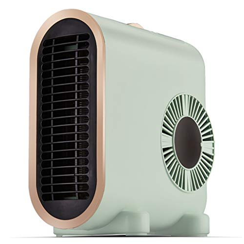 Mini Desk Space Heater, Portable Electric Fan Heater, Personal Air Heater with Rapid Heating,Constant Warmth, Low Noise for Office and Home,The Best Winter Gift (Color : Green, Size : 220V)