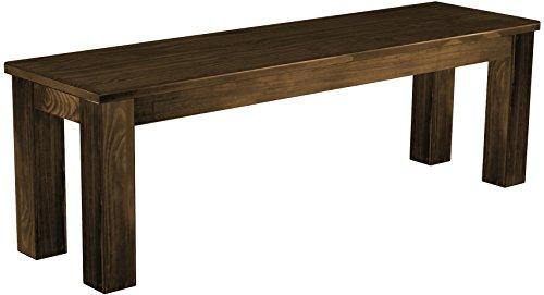 Brasil Furniture zitbank 'Rio Classico' 140 x 38 x 45 cm, massief grenen, kleur eiken antiek