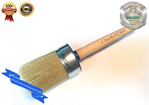 #BB 60-(2,3') 5,84 cm, 60 mm-EXTRA LARGE XXL, colore gesso sintetico con setole pure e SHABBY CHIC furniture-Pennello per pittura, 5 cm