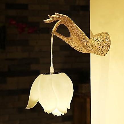 YJH+ ウォールランプレストランホテルレジャー施設リビングルームベッドサイドランプ照明ベルガモットライト 美しく、寛大な ( 色 : D )
