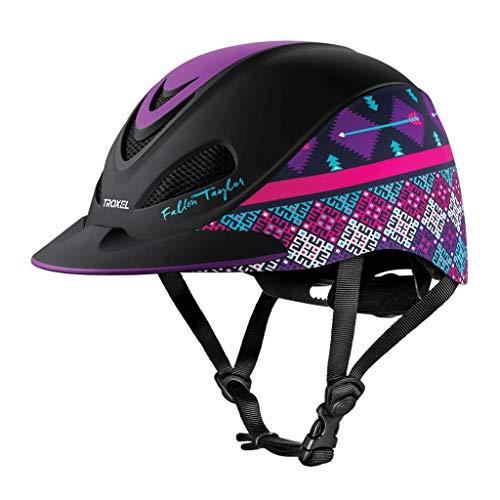 TROXEL New Fallon Taylor Purple GEO XS Safety Riding Helmet Low Profile Horse