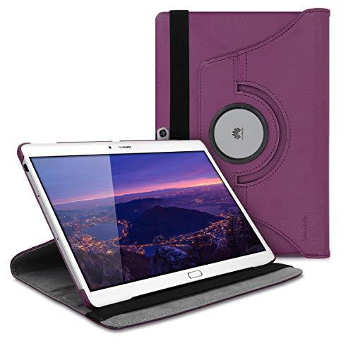 kwmobile Funda Compatible con Huawei MediaPad M2 10.0 - Carcasa de Cuero sintético para Tablet en Violeta
