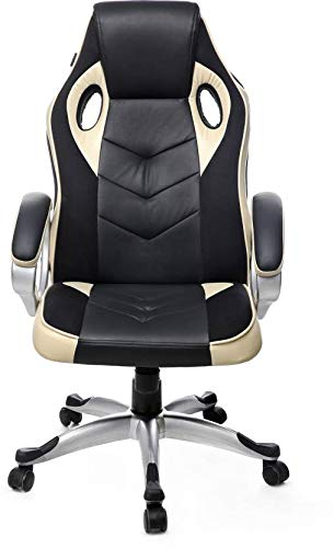 CADDY Ergonomic Gaming Chair (Leather ,Brown)