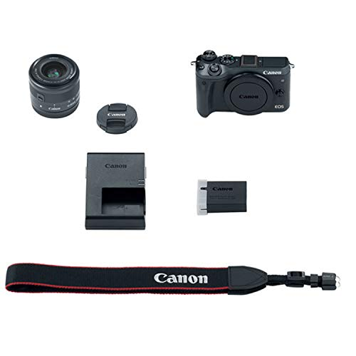 Canon EOS M50 Mirrorless Camera Kit w/EF-M15-45mm and 4K Video + Case + 128GB Memory (25pc Bundle)