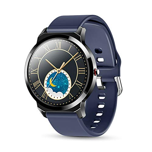 MOLINB Slim horloge Mode Smart Watch Full Touch rond scherm Bluetooth 5.0 Hartslag bloeddrukmeter Nieuwe legering Smartwatch Heren Dames