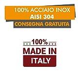 Acciaio Inox AISI 304 Tagliere in Acciaio Inox Varie Misure per Proteggere Il Piano della Cucina L70 X P50