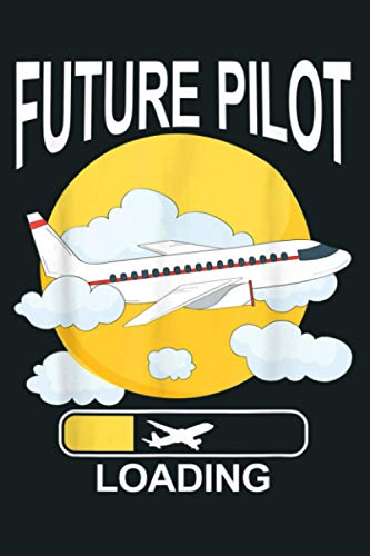 Funny Retro Vintage Future Pilot Captain: Notebook Planner - 6x9 inch Daily Planner Journal, To Do List Notebook, Daily Organizer, 114 Pages