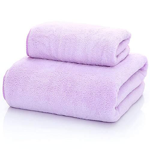 WJJS Calidad Microfibra Juego De Toallas,Toallas De Piscina Soft,De Secado Rápido, Uso Diario Púrpura 70x140cm