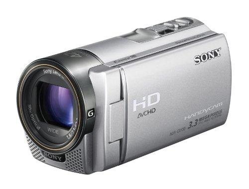 Sony HDR-CX130ES Full HD Camcorder (7,6 cm (3 Zoll) Display, bildstabilisiert, Exmor R Sensor) silber