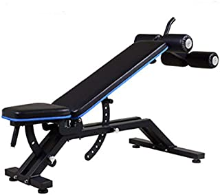 Exercise Bench Weight Bench Adjustable - Heavy-Duty Utility Workout Bench Home Gym Exercise Fitness & Flat/Incline/Decline Position Abdominal/Hyper Back Extension Bench