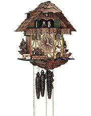 Anton Schneider Reloj cucú Casa de la selva negra con leñador y rueda de molino que se mueve