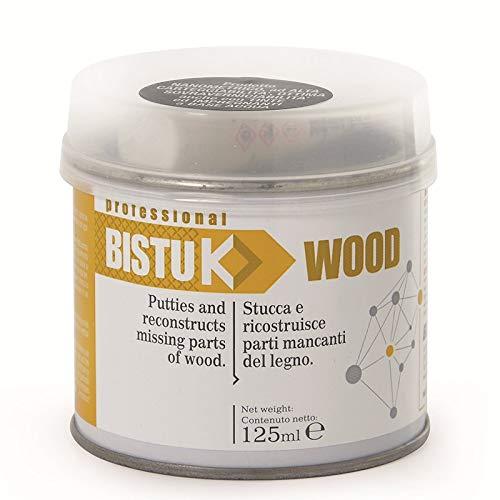 Masilla para madera bicomponente poliéster + catalizador Bistuk madera - nogal oscuro,...