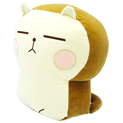 JTLB Plush Cat Doll Pillow Stuffed Chubby Cat Cute Fluffy Soft Plush Bread Toast Cat Cushion Animal Pillow Soft Cat Big Hugging Pillow Plush for Kids