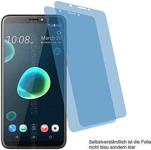 4ProTec I 2X Crystal Clear klar Schutzfolie für HTC Desire 12+ Plus Displayschutzfolie Bildschirmschutzfolie Schutzhülle Displayschutz Displayfolie Folie