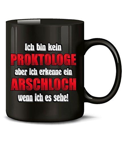Golebros Ich Bin kein Proktologe Aber ich erkenne EIN Arschloch 4857 Handwerker Büro Kollege Kollegin Arbeit Spruch Tasse Lustig Becher Genervt HASS Schwarz