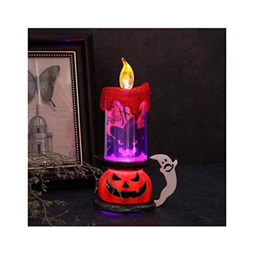 LQH Decoración de la lámpara LED del cráneo de Halloween Calabaza Parpadeo luz de la Vela del Partido Inicio (Size : 3)