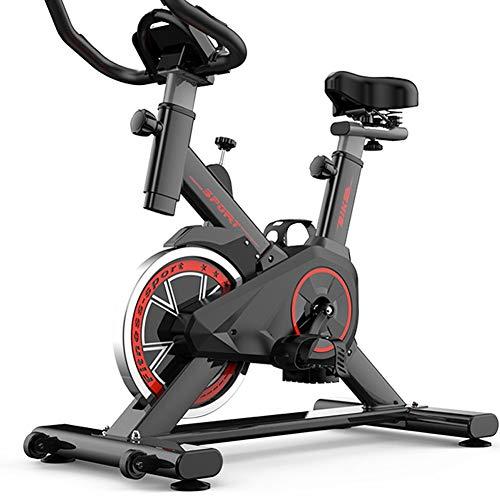 GONGYBZ Fitnessfahrrad, Heimtrainer Fahrrad mit Bequeme Sitzkissen, LCD Monitor, Radfahren Verstellbarer Trainer Cardio Bike Indoor Sport-Training