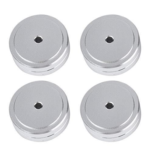 Cojín del Amplificador, pies de Aluminio Desmontables del Amplificador de 40 * 15m m de la aleación de Aluminio, para el hogar(Silver)