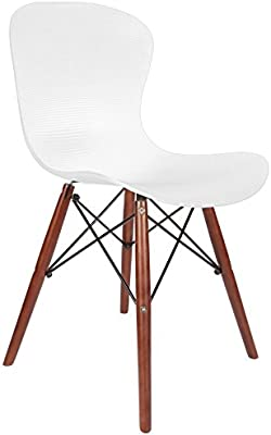 Chaise Privée Silla Elefante DSW - Blanco, Nogal