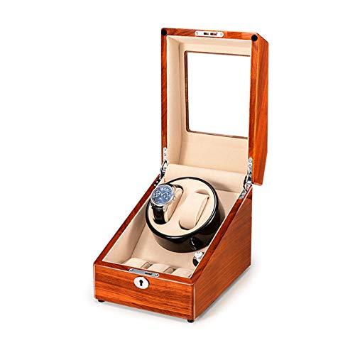 Jlxl Caja de reloj para reloj automático de 2+3 relojes de madera maciza, caja de almacenamiento compatible con carga USB, motor silencioso para hombres y mujeres, accesorios de regalo (color : C)