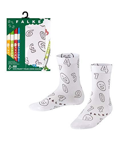 FALKE Unisex Kinder Paint Set Socken, Weiss (White 2000), 39-42