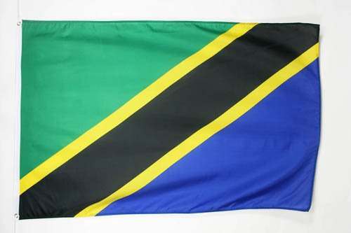 AZ FLAG Flagge TANSANIA 90x60cm - TANSANISCHE Fahne 60 x 90 cm - flaggen Top Qualität