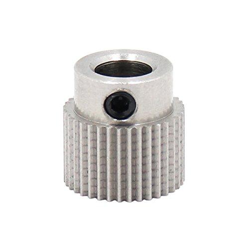 UEETEK 36 Dientes MK7 / MK 8 de Acero Inoxidable 3D Impresora Materia Prima Extrusión Alambre Extrusor Rueda de Engranaje