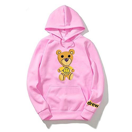 WAWNI Justin Bieber Drew Hoodies Sweatshirt Damen Herren Hip Hop Kapuzenpullover Kleidung Streetwear Sweatshirt Gr. XS, 18
