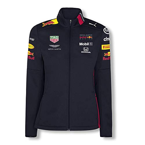 Red Bull Racing Official Teamline Chaqueta Softshell, Azul Mujer Large Chaqueta Impermeable, Racing Aston Martin Formula 1 Team Original Ropa & Accesorios