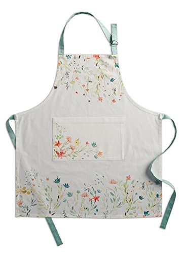 Maison d' Hermine Colmar 100% Cotton 1 Piece Kitchen Apron with an Adjustable Neck & Visible Center Pocket with Long Ties