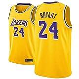 Camiseta de Baloncesto para Hombre, NBA, Los Angeles Lakers #24 Kobe Bryant. Bordado Swingman Transpirable y Resistente, Fresco y transpirable tejido deportivo, que absorbe la humeda(Size:XL,Color:A1)